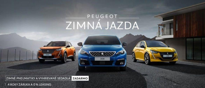 Zimná Jazda Peugeot.